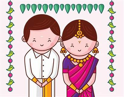 Tamil Indian Nadu Couple Invitation Cards South