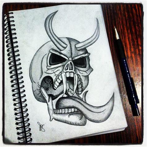 evil skulls drawing  getdrawingscom   personal