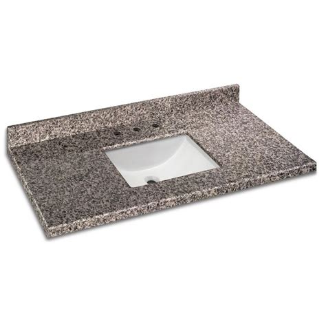49 inch x 22 inch sircolo granite vanity top with trough