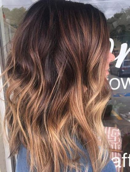 brunette color melt ideas  hairstyles  winter