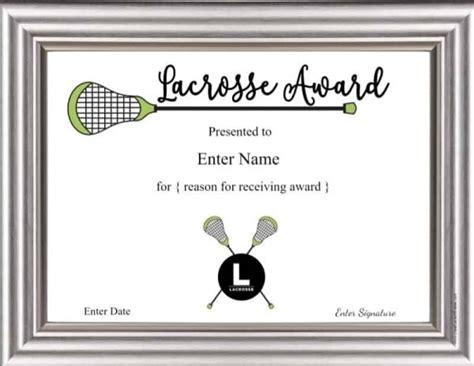 printable lacrosse awards  certificates customizable