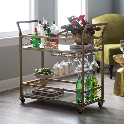 Bar Cart by Belham Living Braxton Bar Cart Serving Carts At Hayneedle