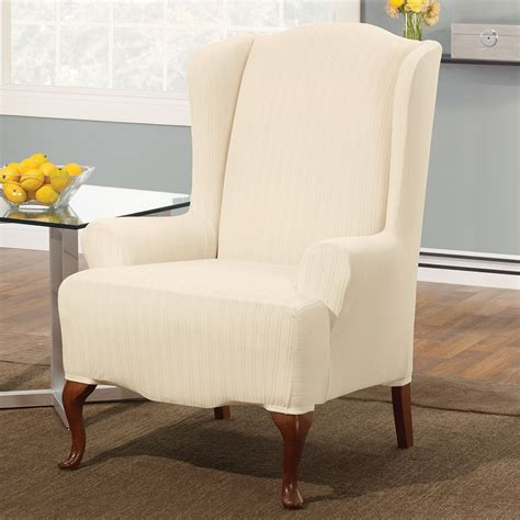 pattern for chair slipcover wingback chair slipcover with striped pattern