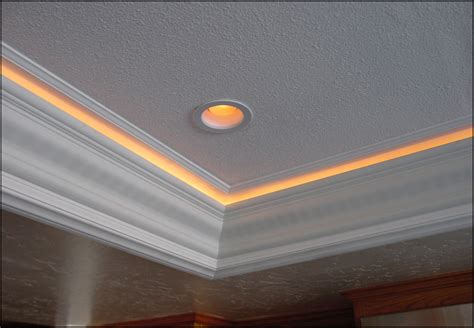 home theater interior beautiful lighted crown molding house exterior and