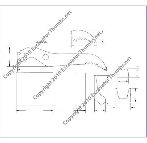 excavator thumb plans backhoe thumb plan excavator thumb attachments
