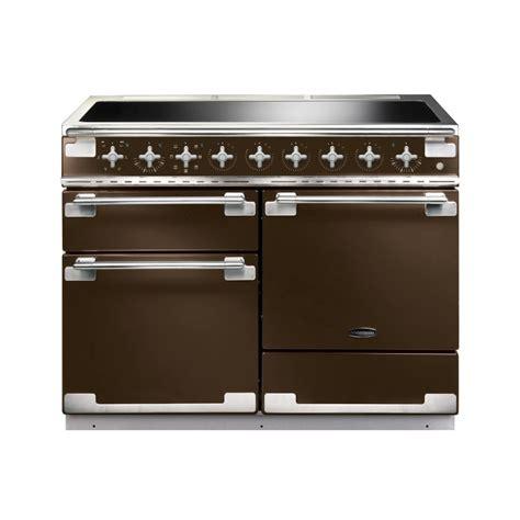 rangemaster elise 110 induction electric range cooker in chocolate