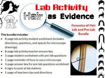 forensic science hair evidence analysis lab activity and