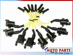 8 Ignition Coil   Spark Plug Wires Silverado 1500