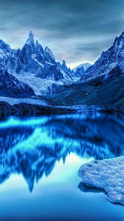 Wallpapers Ice Cold Lake Winter Galaxy Nature
