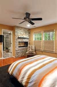 Bedrooms with Stone Wall Fireplaces