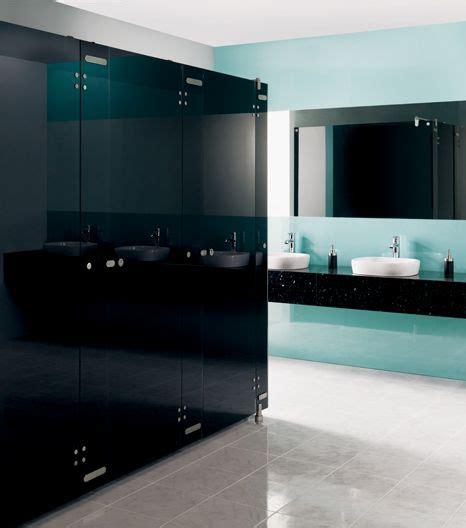 Toilet Partitions Orlando by Aqueous Black Glass Toilet Partition Hardware