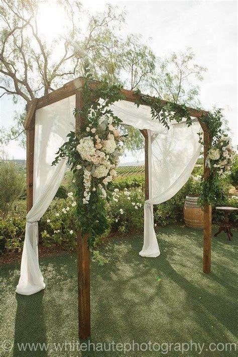 falkner winery rustic wedding arch outdoor weddings