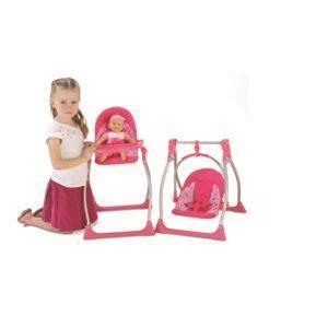 chaise haute pour poupon aimantine set 3 en 1 pour poupon chaise haute cosy et