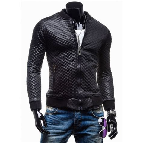 bike jackets for sale slim fit black quilted faux leather motorcycle jacket mens
