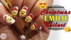 Emoji nail art cute christmas tutorial