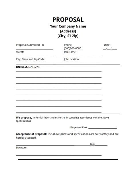 job offer letter templates sles word excel exles job proposal template e commercewordpress