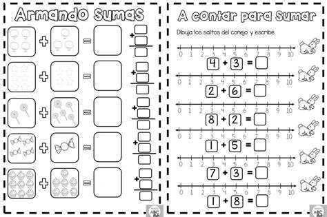 Armando sumas para primer y segundo grado de primaria