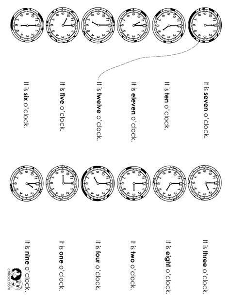 time worksheet classroom