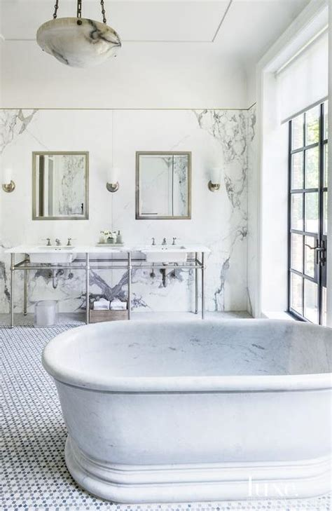 marble tubs oval marble freestanding tub transitional bathroom