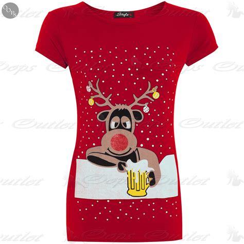 womens ladies christmas xmas glitter olaf reindeer batman
