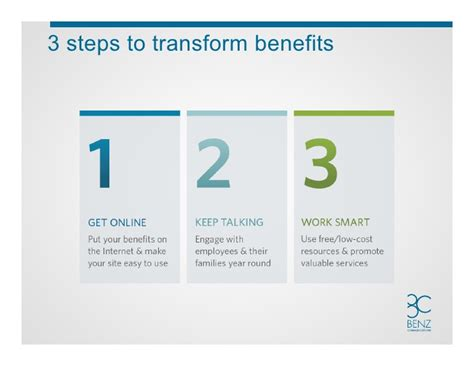 3 Steps To Success How Benefits Can Help Drive Your