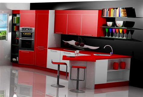 cocinas en rojo blanco planos madera chocolate   thinklikexpertcom