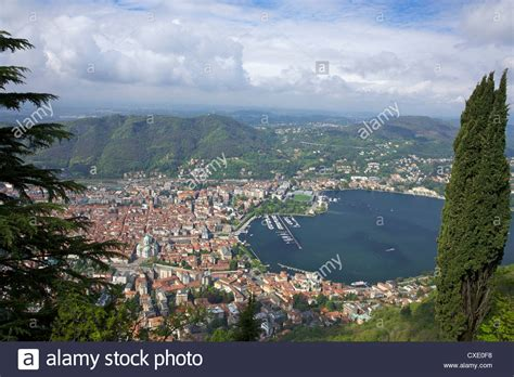 View Of The City Of Como From Brunate Lake Como Lombardy