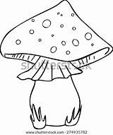 Coloring Yeast Vector Mushroom Template Pages sketch template