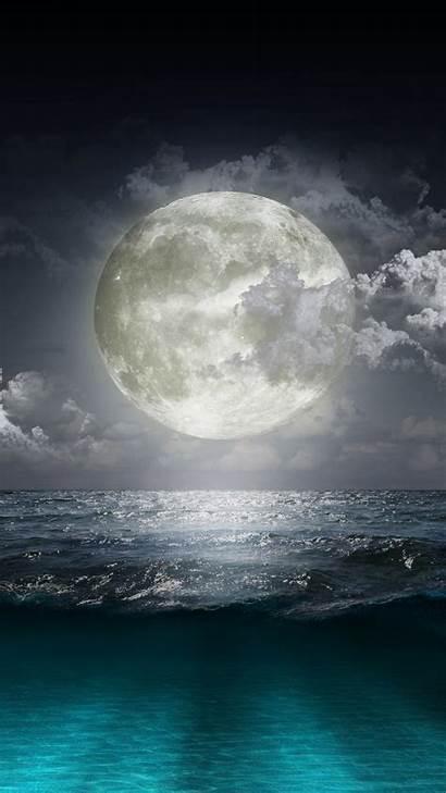Moon Cool Wallpapers Iphone Beach Creative Surge