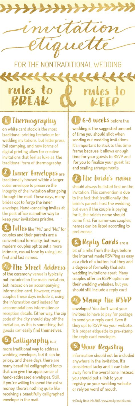 Invitation Etiquette for the Nontraditional Wedding