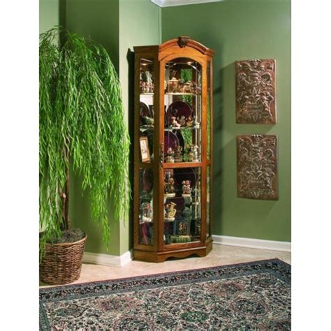 estate oak corner curio cabinet cedar hill furniture