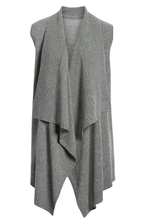 halogen wool cashmere drape front sweater vest nordstrom
