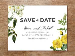wedding seating chart template save the date template botanical