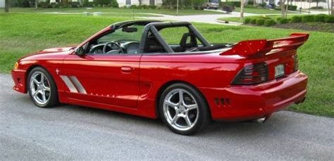 Laser Red 1995 Saleen S351 Ford Mustang Convertible