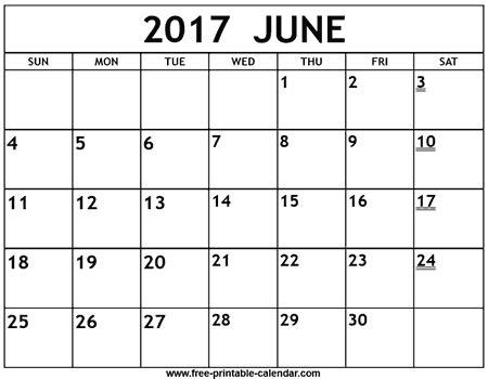 june calendar template 2017 printable 2017 june calendar