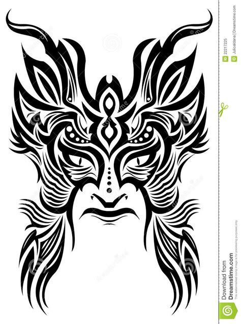 ancient ceremony mask tribal tattoo vector stock vector illustration  face african