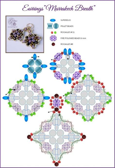 scheme the scheme earrings marrakech breath free jewelry tutorials beaded jewelry patterns