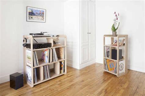 meuble rangement vinyle meuble pour vinyles sur mesure