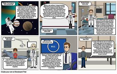 Texas Scientists History Storyboard