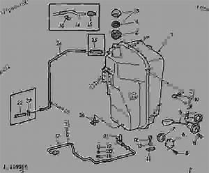 Fuel Tank  01b23  - Tractor John Deere 1120