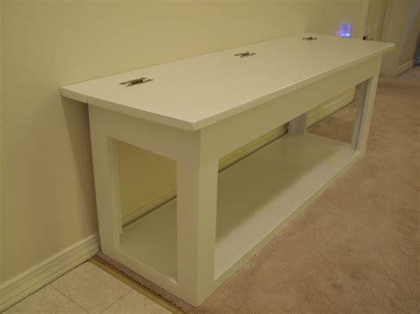 ana white flip top storage bench diy projects