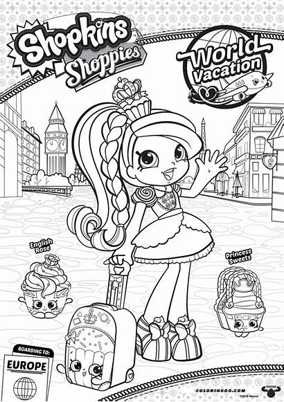 Shopkins Coloring Shoppies Vacation Season Jessicake Pages