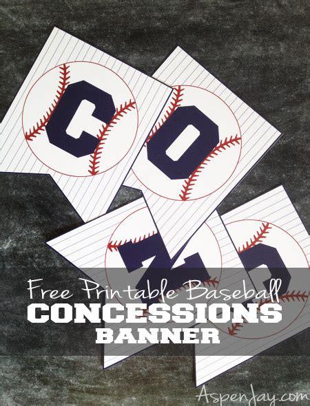 baseball concessions banner aspen jay