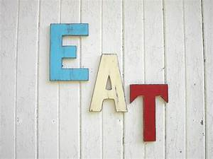 eat letters sign retro americana patriotic red by With eat decorative letters