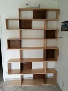 Bibliothèque Design Bois : faire sa propre biblioth que en bois massif le blog du bois ~ Teatrodelosmanantiales.com Idées de Décoration