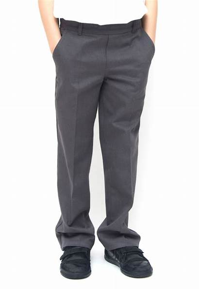 Trousers Boys Grey Classic Policy Waist Adjustable