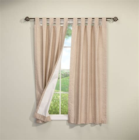 energy saving tab top curtains set of 2 ebay