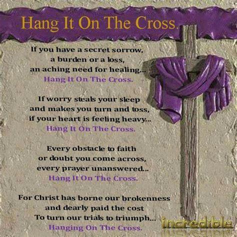 hang    cross easter poems word  god trust god