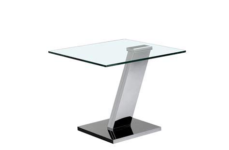 bout de canapé design bout de canapé en verre et pied design crozatier