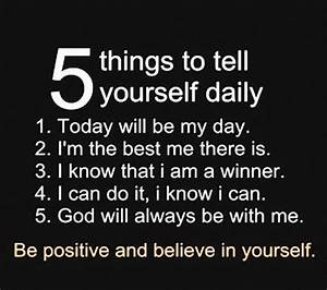 5 Things To Tel... Daily Need Quotes